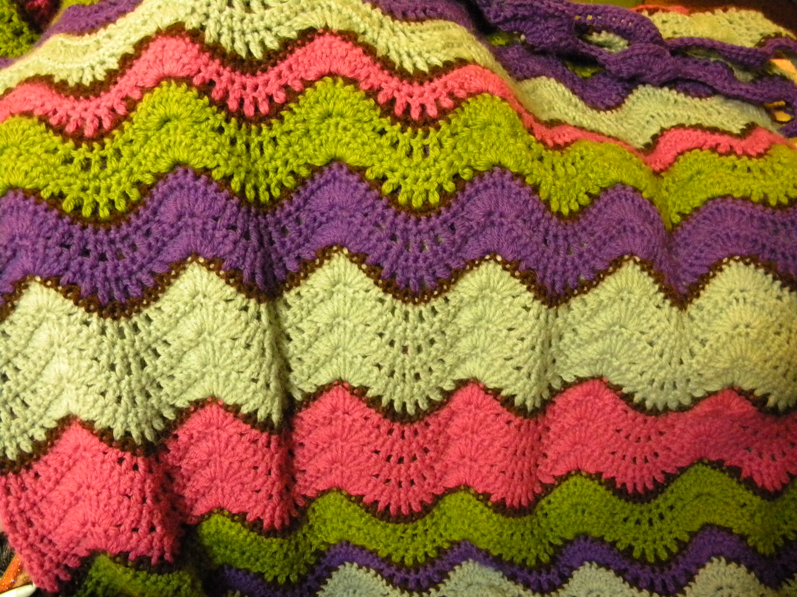 Crochet Stitches Ripple Afghan : Ripple Afghan