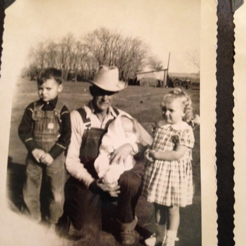 Grandpa Casteel, Butch, Sis, and Sue