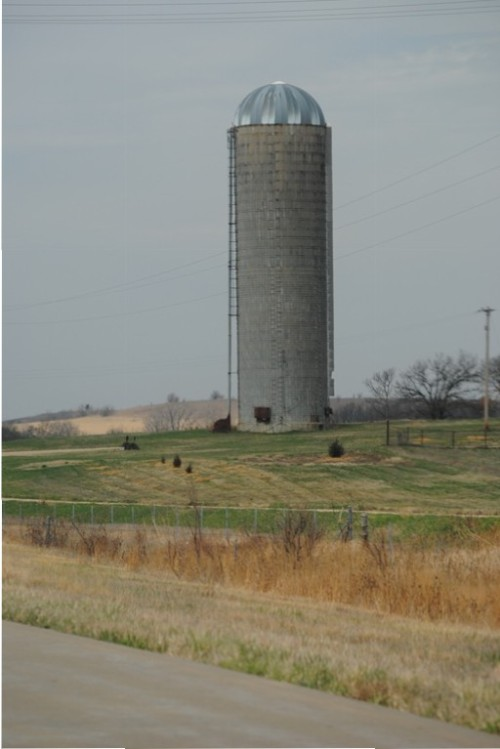I love to take photos of silos. They always remind me of my brother Terry, who used to build them.