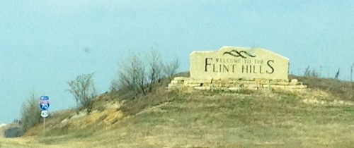 Scenic drive through the Flint Hills.