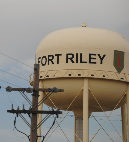 Fort Riley, I do not remember ever driving by this military base before.