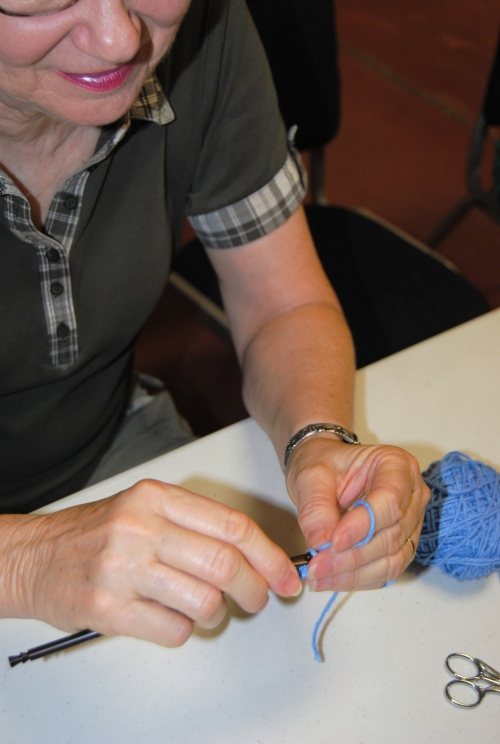 Then I was off to Newton to teach the second half of my Crochet 101 class.