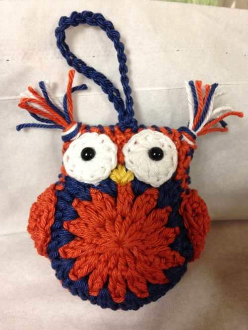 This is a little Auburn University Owl that I was commissioned to make. He will be on his way in the mail today to his new owner.