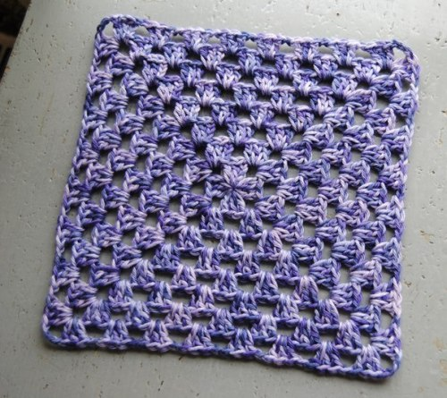 You will have your choice of projects to make in the  Crochet 102 class. This square or the motif above.