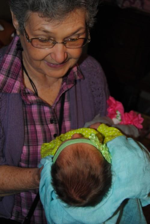 I took Mom to a baby shower.