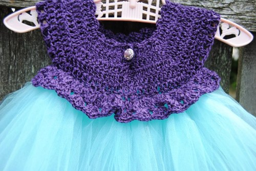 This one makes me happiest. Oh by the way the purple and black one has already been snatched up and will be heading to Texas very soon for a one year old photo shoot in a purple chair. Thanks so much Debby Dennet-Marvin for loving the things that I make. I almost forgot to mention where I got the pattern. The little tutu dress pattern was designed by DaisyGirlCrochet and you can find it on Ravelry here for Free. I hope all of you had a wonderful weekend and I hope you all have a great week.