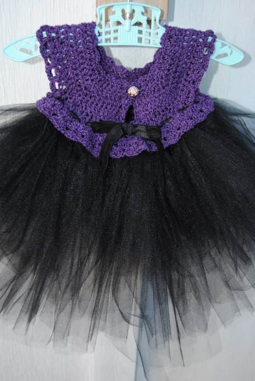 the crocheted top of the tutus.