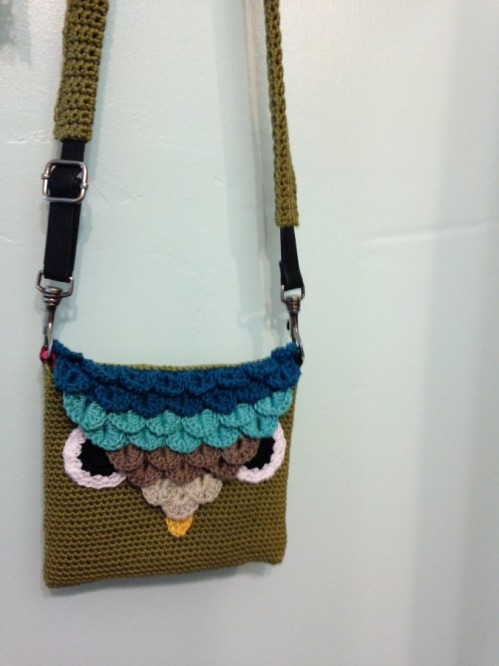 I even had time to line the little owl purse before heading off to have lunch with my brother Tom again.