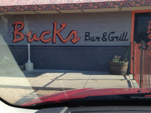 We had planned on getting up early and going to the Farmer's market, but since John slept in a little I decided we would go check out Buck's Bar and Grill for  breakfast.
