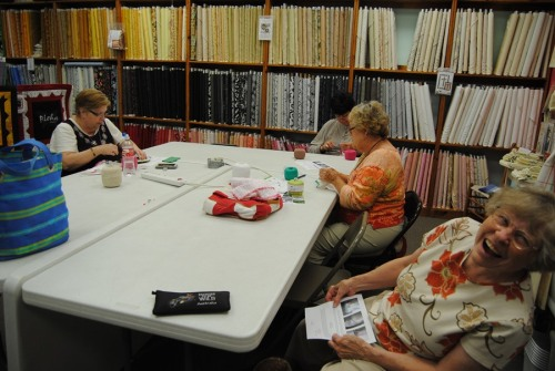 I held my first crochet edging class on Wednesday of last week. I taught the ladies to crochet around the edge of a washcloth. I think all of them enjoyed it.