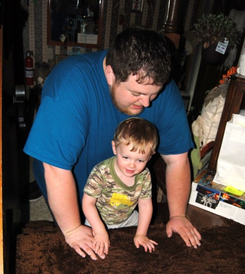 I love this picture of Syrus with Zach (my nephew).