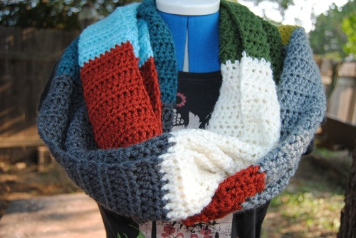 This is the infinity scarf that I showed earlier. I hope someone loves it as much as I loved making it.