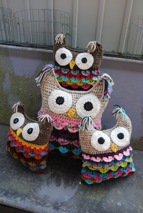 I finally finished my owl family of four. These will be with me at the Kansas Barn Sale.