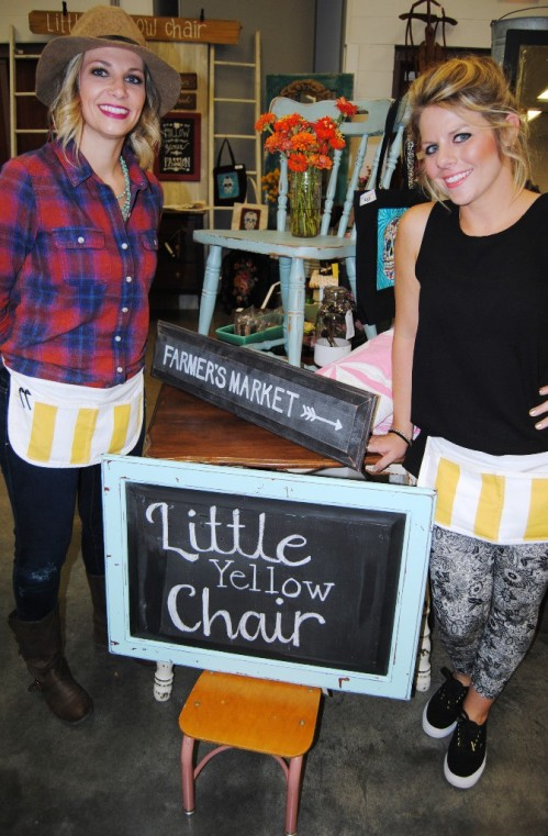 Sunday morning took me to the Fall Unique Antique Market to see a few of my favorite people. Like my niece Angie and her friend Airyn representing Little Yellow Chair.
