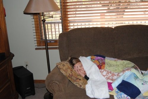I was so happy to see my cousin Brynda again. My Aunt Marthie said that when Brynda found out that she was coming to Wichita to see the baby, Brynda said that she wanted to come too. After having brain surgery to remove a tumor and her rounds of radiation and chemotherapy she has been very tired and does a lot of sleeping. None of us cared that she slept, we were all so glad that she wanted to make the trip to come and see us.