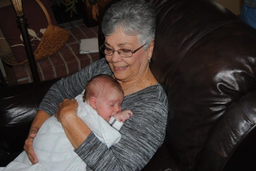Aunt Marthie got to cuddle with her some more. I didn't want to hog her too much, as I know I can see her more often than she can.