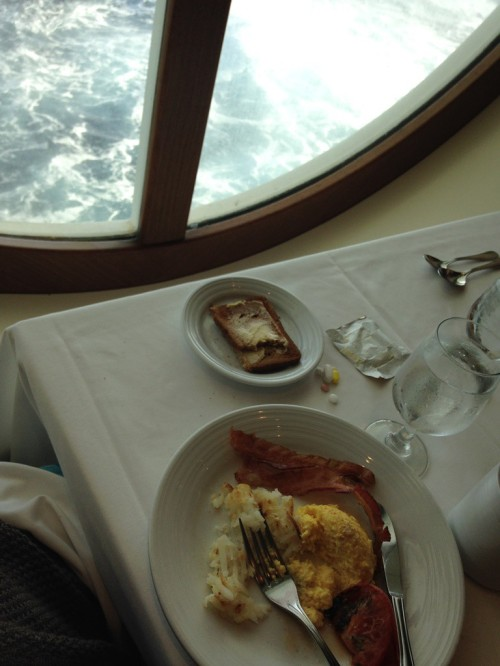 This was my first breakfast on the ship. I loved that I got to watch the ocean while I dined.
