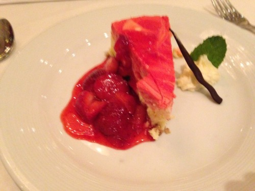 Strawberry cheesecake; it doesn't get much better than this.