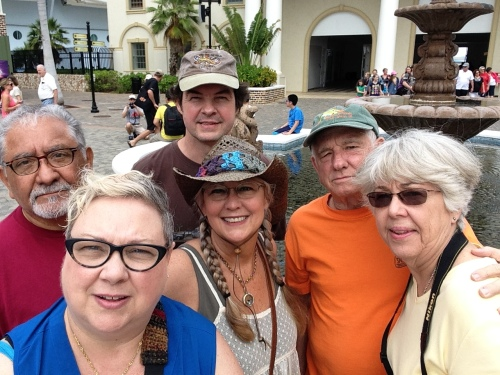 This is our group that we strolled through the marketplace with in Jamaica.