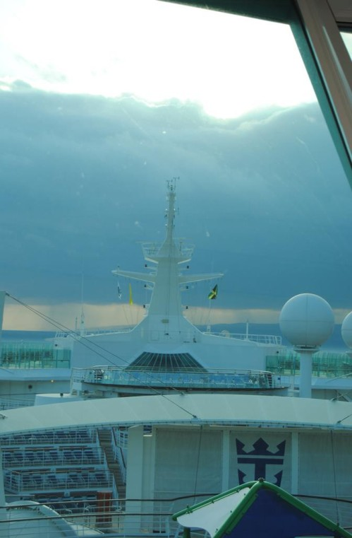 This was the storm that would keep us from going onto the Grand Cayman Islands.
