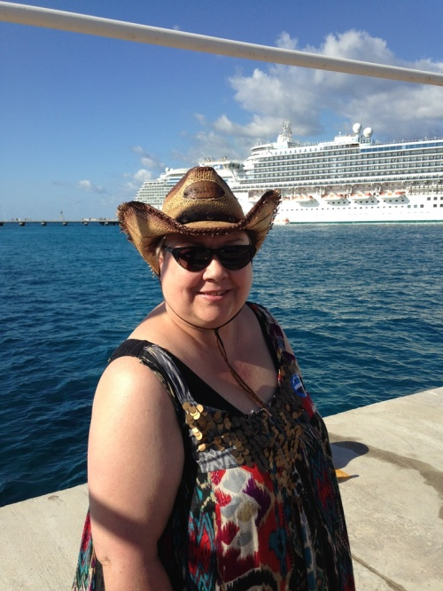 You can take the girl out of Kansas but you can't take the cowgirl out of Cozumel. I can't believe how silly I look in that hat, but oh my gosh look at the color of that water! I will never forget it.