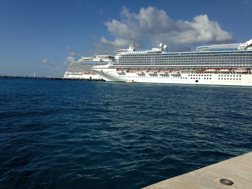 I couldn't believe how many ships were docked in the port of Cozumel all at once.