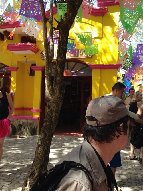 Here's one of the buildings in the area where John was tasting tequila. (Yuck! Not the building but I don't like tequila)