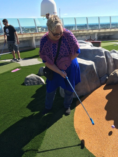 I don't even remember the last time I played miniature golf, but Susie and I had lots of fun playing and I do believe it's the best I have ever played.