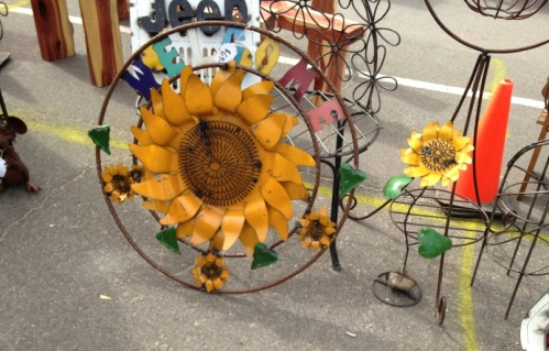 I especially loved the large sunflower.