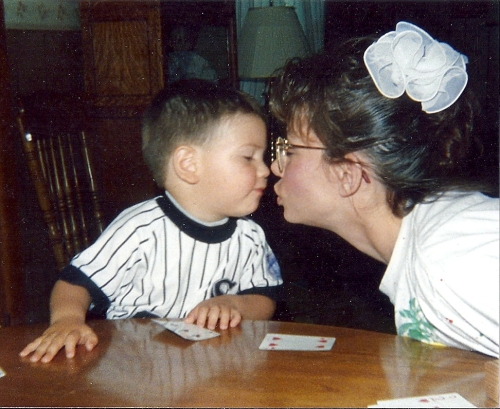 Hi Aunt Jackie played a very big role in raising Joshua. She was always there to lend a hand when I needed her to take care of him.